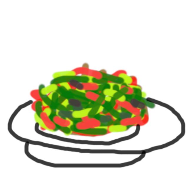 【青椒肉絲】ピーマンと細切りにした肉などを炒めた中華料理である。 発祥の中国においては豚肉を使用するのが一般的であり、牛肉を使用した場合「青椒牛肉絲」、もしくは短縮して「青椒牛肉」、「青椒牛」などと表記する。日本の場合、牛肉を使用していても「青椒肉絲」の名で呼ばれることが多い。