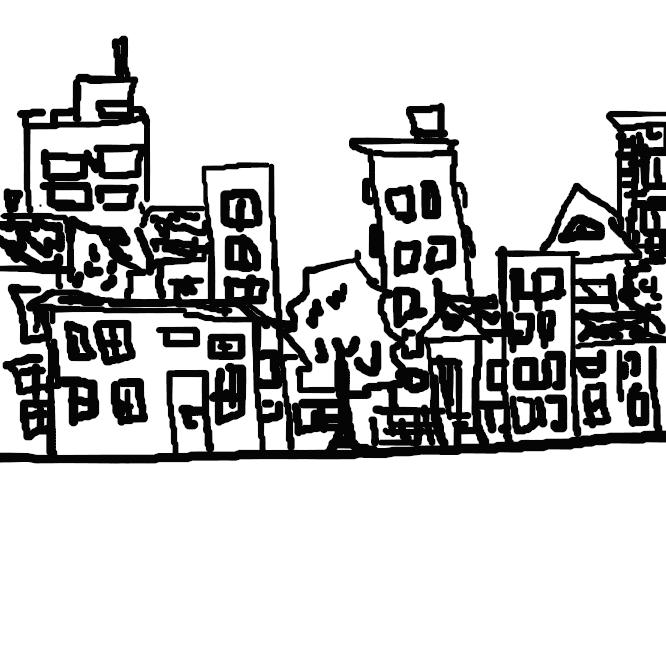 【街並み】町内の建物が立ち並んでいる区域や、その建物の並んださまなどを意味する表現。