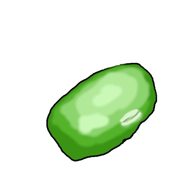 【枝豆】大豆を未熟なうちに茎ごと取ったもの。さやのままゆでて食べる。月見豆。