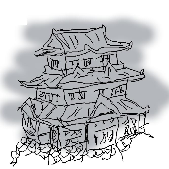 【城】敵襲を防ぐための軍事施設。古代には朝鮮・蝦夷(えぞ)対策のために築かれ、中世には自然の要害を利用した山城(やまじろ)が発達したが、このころのものは堀・土塁・柵(さく)などを巡らした簡単な施設であった。戦国時代以降、政治・経済の中心地として平野に臨む小高い丘や平地に築かれて城下町が形成され、施設も天守を中心とした堅固なものとなった。