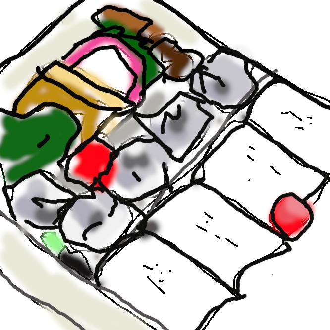 【シウマイ弁当】神奈川県横浜市西区に本社を置く「崎陽軒」が製造・販売する横浜駅の駅弁である。崎陽軒名物の焼売(中身はホタテガイと豚肉)が同梱されている。日本で最も多く製造・販売されている駅弁とされる。幕の内弁当に特徴のある食材が加えられるタイプの弁当で、焼売以外のおかずも充実している。