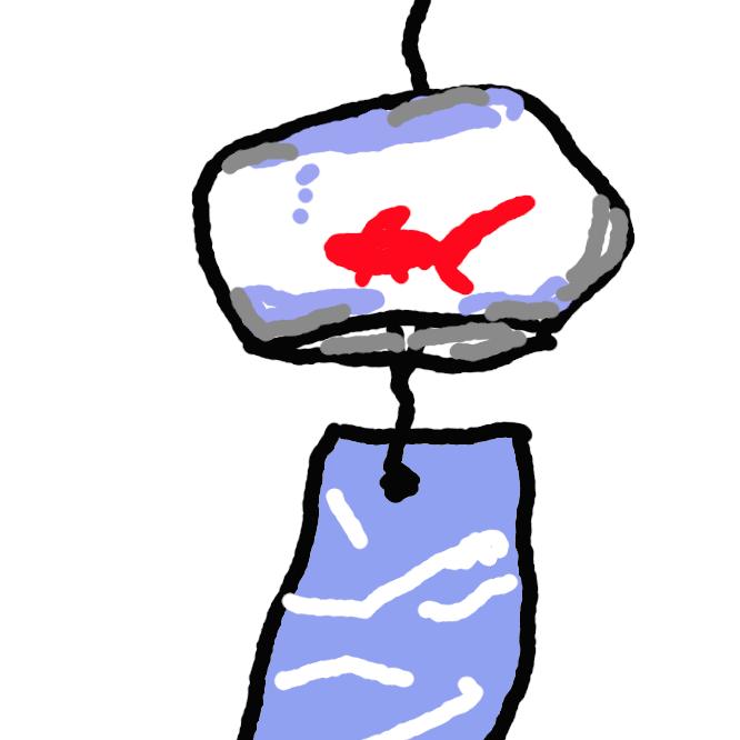 【風鈴】1 金属・陶器・ガラスなどで小さい釣鐘の形に作り、その中の舌に風を受ける羽や短冊をつけた鈴。軒下につるし、鳴る音を楽しむ。<br>2 置き碁で、井目(せいもく)の四隅の星に置いた石に添えて、対角線上のすぐ外側の三三の位置に置く石。