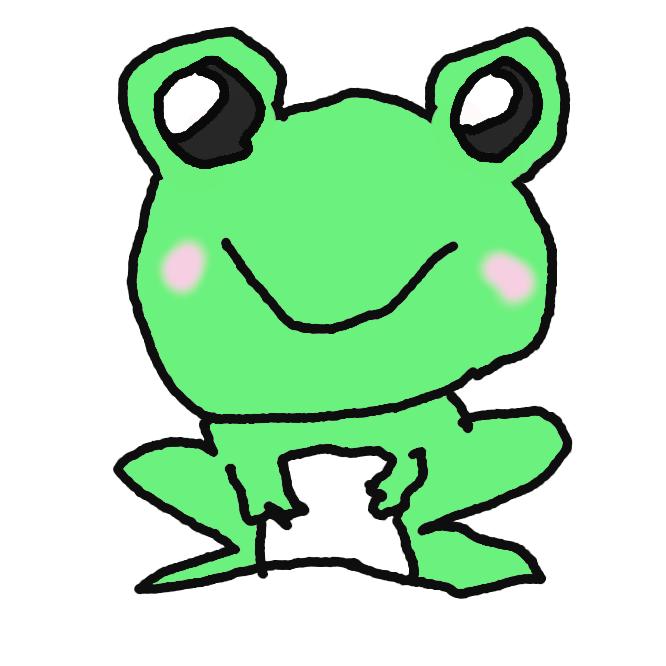 【蛙】無尾目の両生類の総称。体は太短く、首のくびれがなく、目は上方に出て、口が大きい。前足に4本、後ろ足に5本の指と水かきをもつ。昆虫やミミズなどを舌で捕らえて食べる。声帯や鳴嚢(めいのう)をもち、鳴くものが多く、水田・沼などにすみ、樹上や地中にすむものもある。幼生はおたまじゃくし。