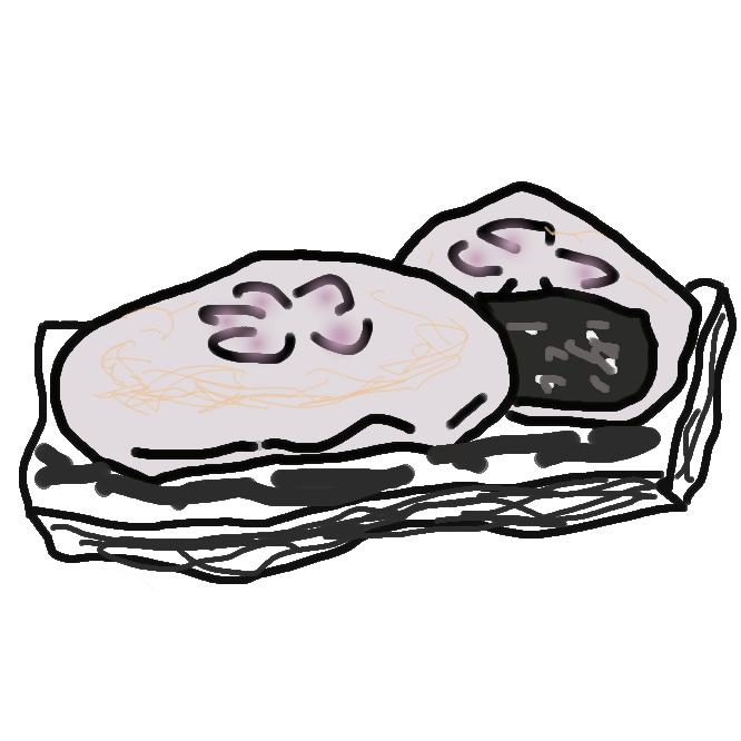 【梅ヶ枝餅】太宰府名物、漉し餡を包んだ平たい焼餅。