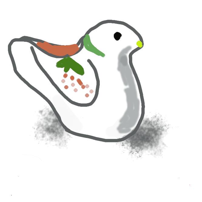 【鳩笛】郷土玩具の一。鳩の鳴き声に似た音を出す、鳩の形をした土焼きの笛。