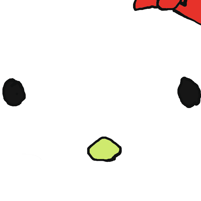 サンリオでデザインされたキャラクターグッズ用キャラクターで、猫をモチーフに擬人化したキャラクター。向かって右側の耳の付け根にトレードマークである赤いリボン、またはそれに類する飾りをつけているのが特徴。