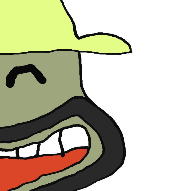明治から発売されているノンフライスナック菓子「カール」のイメージキャラクター。丸いヒゲと麦わら帽子が特徴で、CMでは顔を出すだけでしゃべらないのがほとんど。