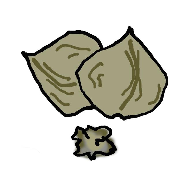 【胡桃】オニグルミの果実。また、クルミ科クルミ属の落葉高木のオニグルミ・テウチグルミなどの総称。果実は丸く、肉質の外果皮と堅い内果皮に包まれた子葉部分を食用にする。