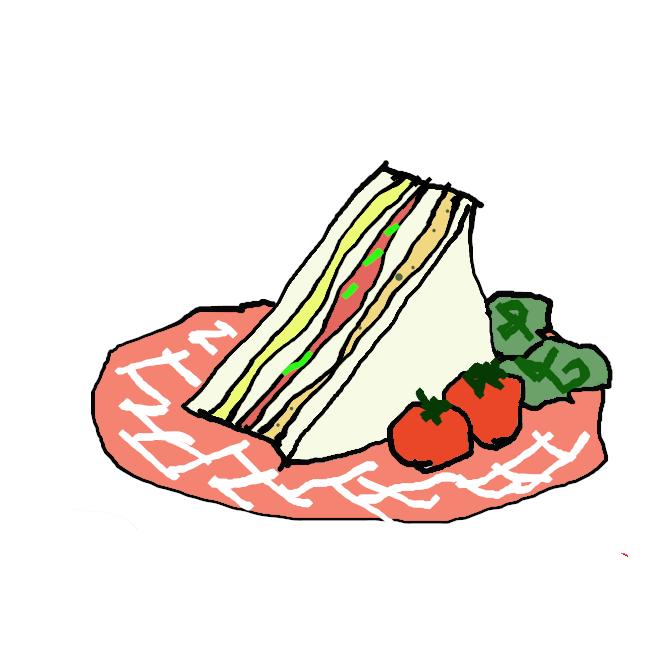 薄く切ったパンの間に肉・卵・ハム・野菜などを挟んだ食べ物。英国のサンドイッチ伯爵の思いつきという。