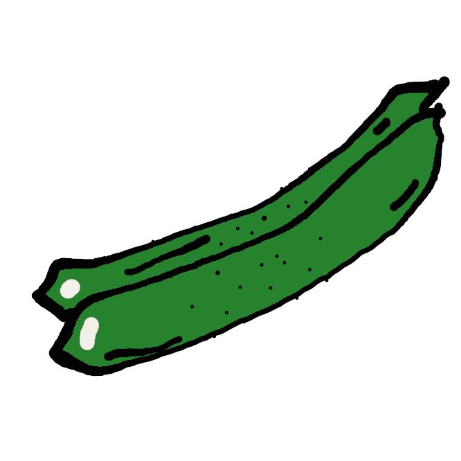 【胡瓜】ウリ科の蔓性(つるせい)の一年草。茎から巻きひげを出して絡みつく。葉は手のひら状に浅く切れ込む。夏、黄色の雄花と雌花とをつける。実は円柱形で、いぼがあり、緑色であるが熟すと黄褐色になる。若い実を食用にする。インドの原産。野菜として栽培。