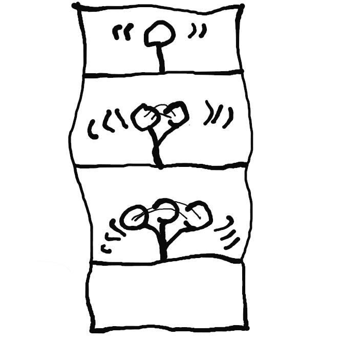 バ行五段活用の動詞「飛ぶ」の連用形である「飛び」の撥音便形に、接続助詞「で」が付いた形。