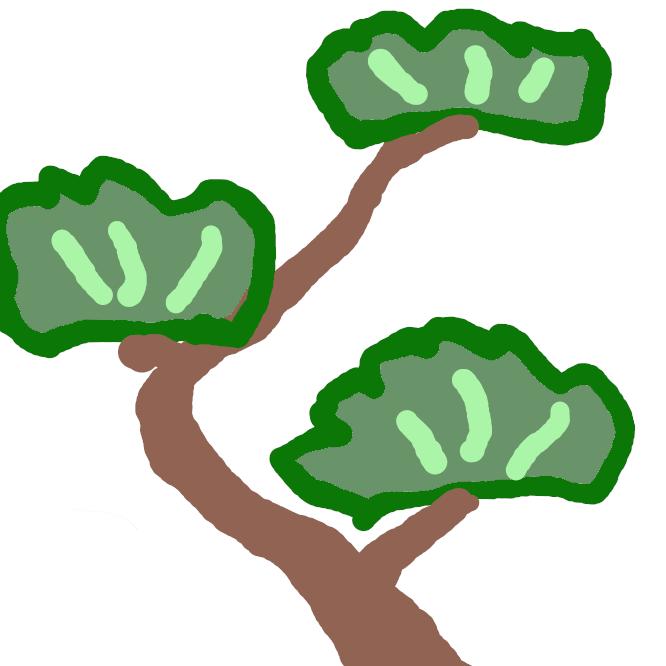 【松】マツ科マツ属の常緑高木の総称。明るく乾燥した地に生え、樹皮はひび割れするものが多い。葉は針状で、ふつうアカマツ・クロマツなどでは2本、ゴヨウマツ・チョウセンゴヨウ・ハイマツなどでは5本が束になって出る。春、球状の雌花と雄花とがつき、黄色い花粉が風に飛ぶ。果実は松かさとよばれ、多数の硬い鱗片(りんぺん)からなる。