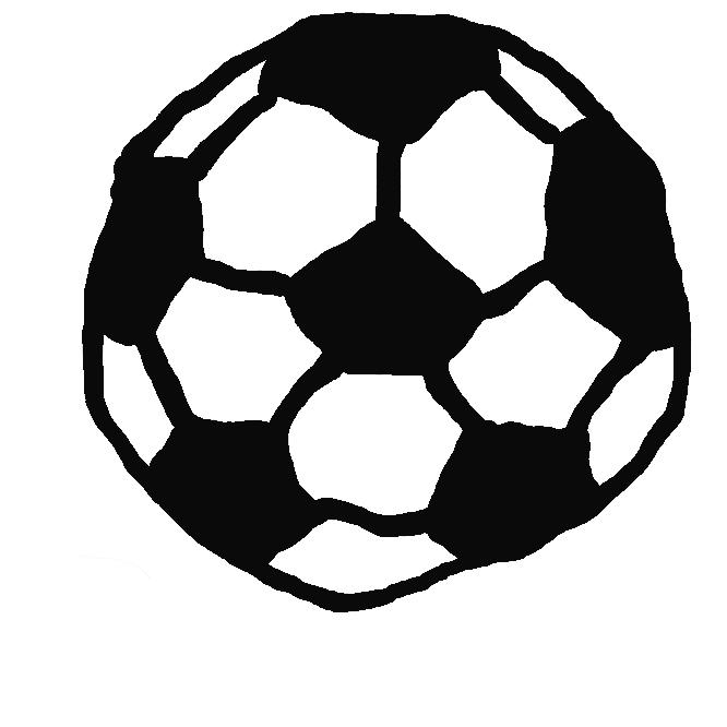 サッカーで使用されるボールである。