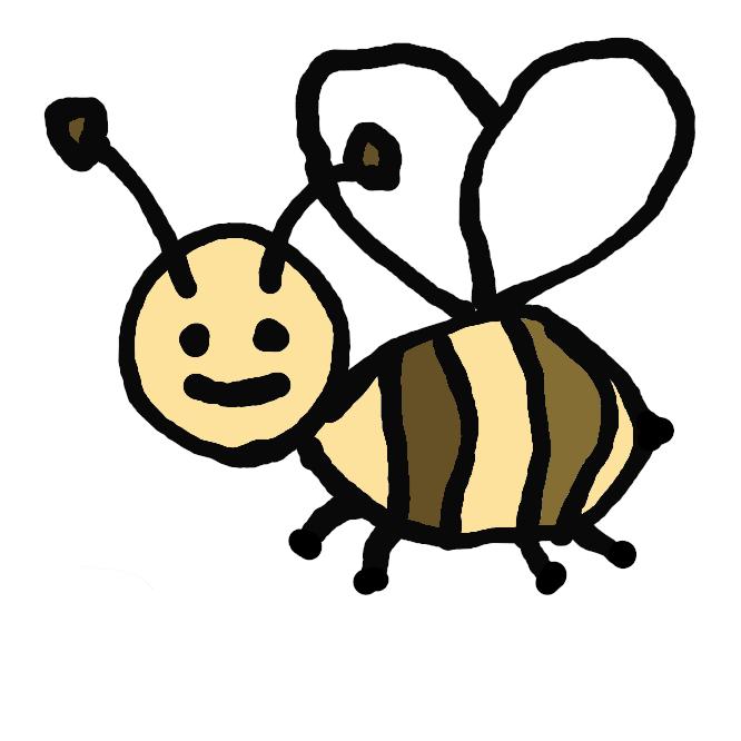 【蜂】膜翅(まくし)目のうち、アリを除く昆虫の総称。二対の膜質の翅(はね)をもち、後ろ翅は小さく、前翅の後縁にかぎで連結される。産卵管の変化した毒針をもつものもある。完全変態をする。木の枝や軒先・地中などに巣を作り、花から蜜を集めたり他の昆虫を狩ったりする。社会生活を営むものでは、女王蜂・雄蜂・働き蜂などの階級があり、分業がみられる。ハナバチ・アシナガバチ・アナバチなど種類が非常に多い。