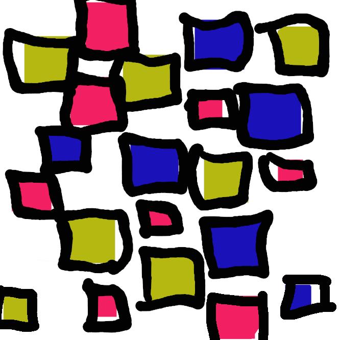 【デザイン画】図像によって物語などを描写もしくは装飾し、文字情報を補助する絵画的な視覚化表現である。