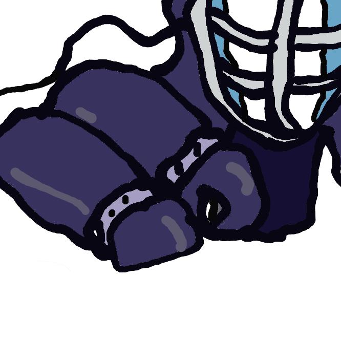 【剣道】日本の武道の一。面・籠手(こて)・胴・垂(たれ)などの防具を着装し、決められた相手の部位を竹刀で打ったり突いたりして勝敗を争う競技。
