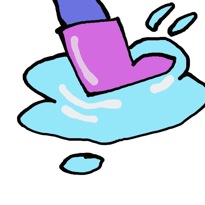 【水溜まり】地面のくぼみなどに多少の水が留まっている状況、および、そのような水の溜まっている箇所のこと。特に、降雨によって地面に一時的に水が溜まった所を指す場合が多い。降雨に限らず、水を撒いたりこぼしたりして生じた水の溜まり場も「水たまり」に該当する。