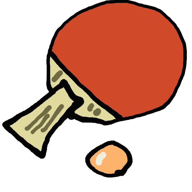 テニス・卓球・バドミントンなどで、ボールやシャトルコックを打つ用具。