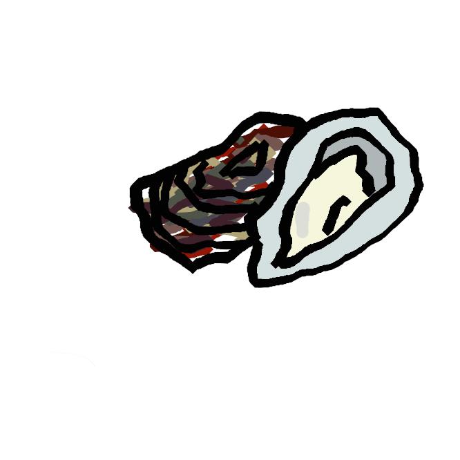 【牡蠣】イタボガキ科の二枚貝の総称。海中の岩などに固着する。貝殻形は一定しないが、片方の殻は膨らみが強く、片方は平たい。殻表には成長脈が薄板状に発達。マガキ・イタボガキ・スミノエガキ・イワガキなど食用となるものが多く、養殖もされる。オイスター。乳白色の色合いと、栄養が豊富であることから「海のミルク」と呼ばれる。