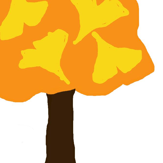 【銀杏】イチョウ科の裸子植物。一科一種。落葉高木で、高さ約30メートルに達する。葉は扇形で中央に裂け目があり、秋に黄葉する。雌雄異株。春、葉の付け根に、尾のような雄花、柄のある2個の胚珠(はいしゅ)をもつ雌花をつけ、4月ごろ受粉し、9月ごろ精子によって受精が行われる。果実は丸く、外種皮は熟すと黄橙(おうとう)色で、内種皮は白い殻となって種子を包む。種子は銀杏(ぎんなん)とよばれ、食用。幹や枝から気根を垂らすことがあり、乳(ちち)の木ともいう。