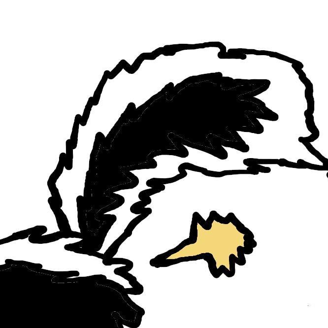 イタチ科スカンク亜科の哺乳類の総称。猫大で、尾がふさふさしている。体は黒色だが白の警戒色をもち、身を守るとき、逆立ちして肛門腺から悪臭の強烈な液体を出す。動作は遅く、昆虫などを捕食する。南・北アメリカに分布。シマスカンク・マダラスカンクなど。