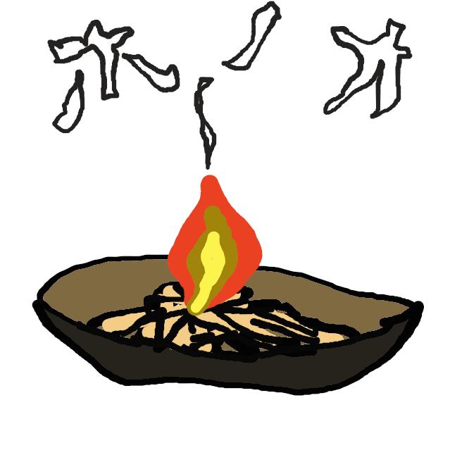 【炎】気体が燃焼したときの、熱と光を発している部分。液体・固体では、燃焼によって一部が気化し、反応している。ふつう最下部の炎心、輝きの強い内炎、その外にあり完全燃焼している外炎の三つに分けられ、温度は外炎内側で最も高い。火炎。
