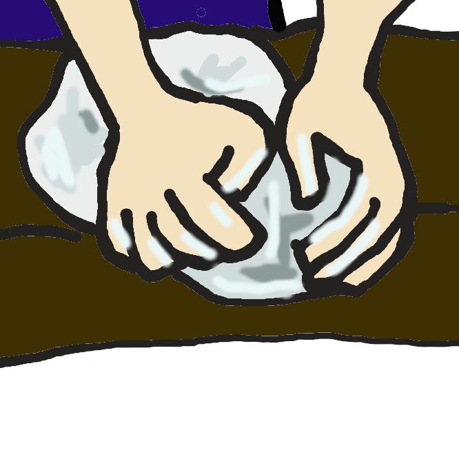 【菊練り】陶芸や蕎麦打ちの際に、材料を練る方法の一つ。