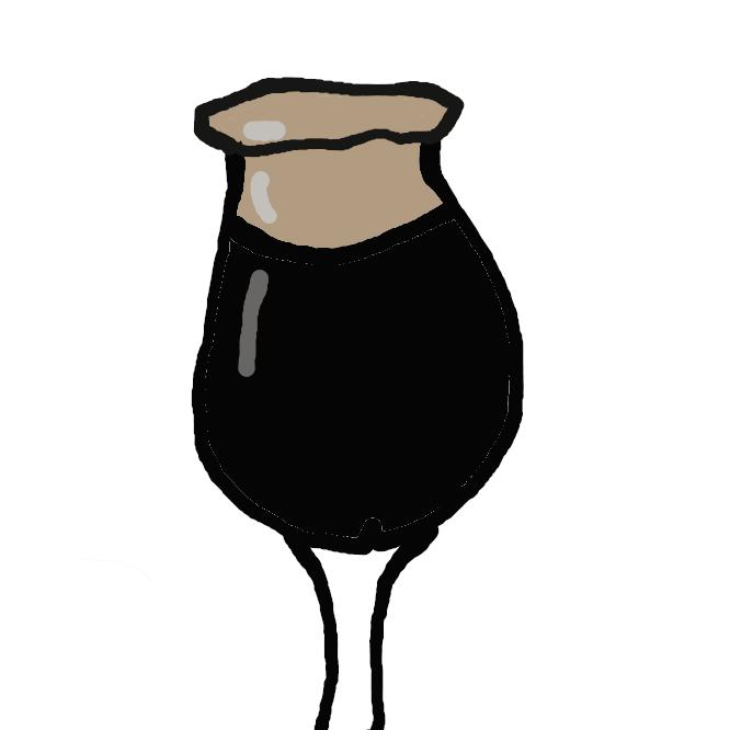 【黒ビール】ビールの醸造工程において、麦芽を高温で焙煎し、焦がしたもの。焦げ色で濃い褐色となり、香ばしい風味が付く。