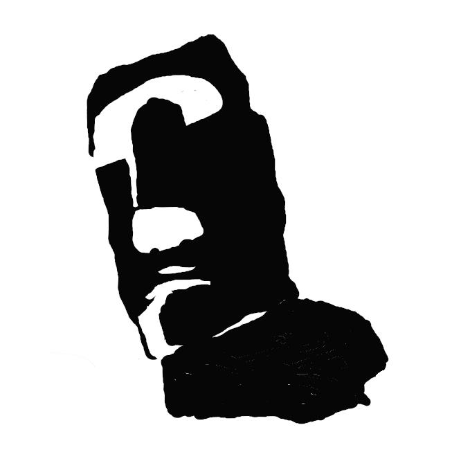 【モアイ像】モアイ(Moai)はチリ領イースター島にある人面を模した石造彫刻のこと。島の海に面したアフと呼ばれる高台に、多くの場合海に背を向けて、正確にはかつての住居跡を取り囲むように多数建てられている。大きさは3.5m、重量20トン程度のものが多いが最大級のものは20m、重量は90トンに達する。島で産出される凝灰岩でできており、建造中に放置されたものも含め約900体ある[1]。現在アフに立っている約30体は、すべて近代以降に復元されたものである。