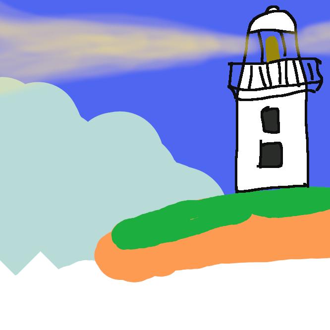 【灯台】航路標識の一。港口・岬・島など航路の要衝に築き、主として灯光を用いて、航行中の船舶にその所在などを明示する塔状の施設。灯明台。