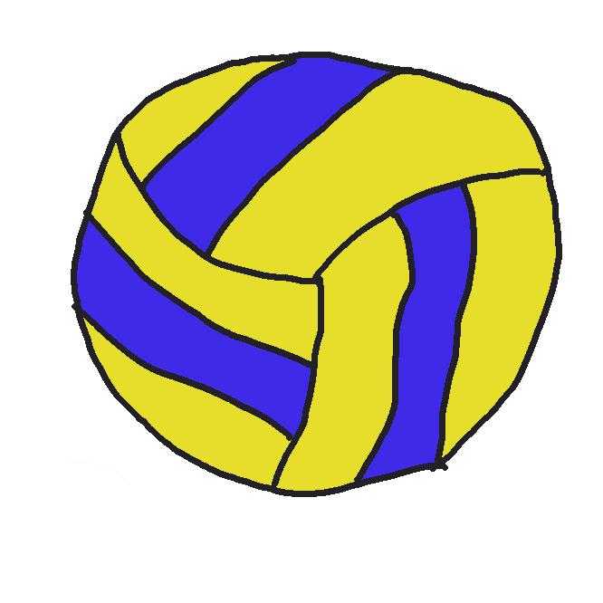 コート中央のネットを挟んで2チームが相対し、ボールを地に落とさないように、手や腕で打ち合って得点を競う球技。バレー。排球。