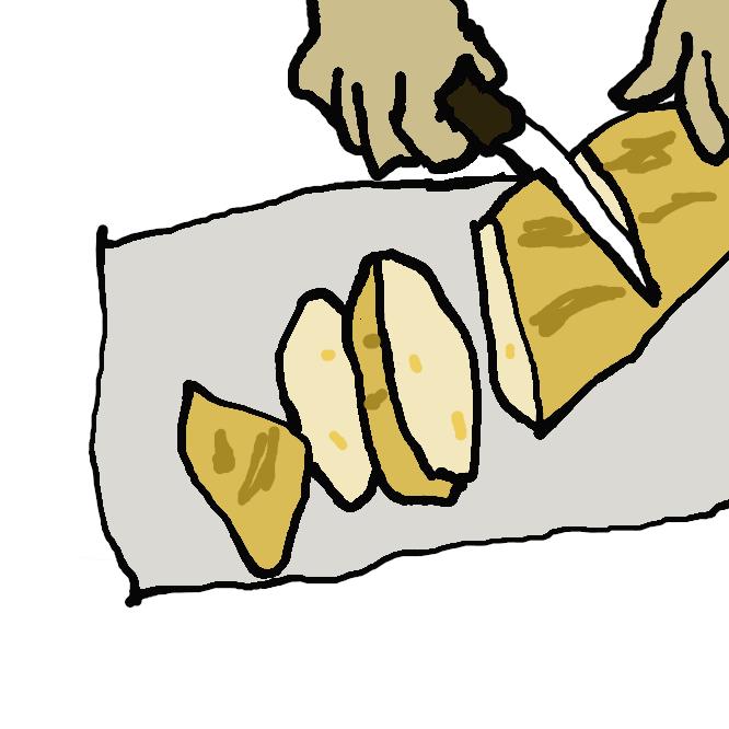 フランス式の堅焼きパン。皮が堅く、中は白くて気泡が大きく、塩味のもの。バゲットやバタール、カンパーニュなどがある。