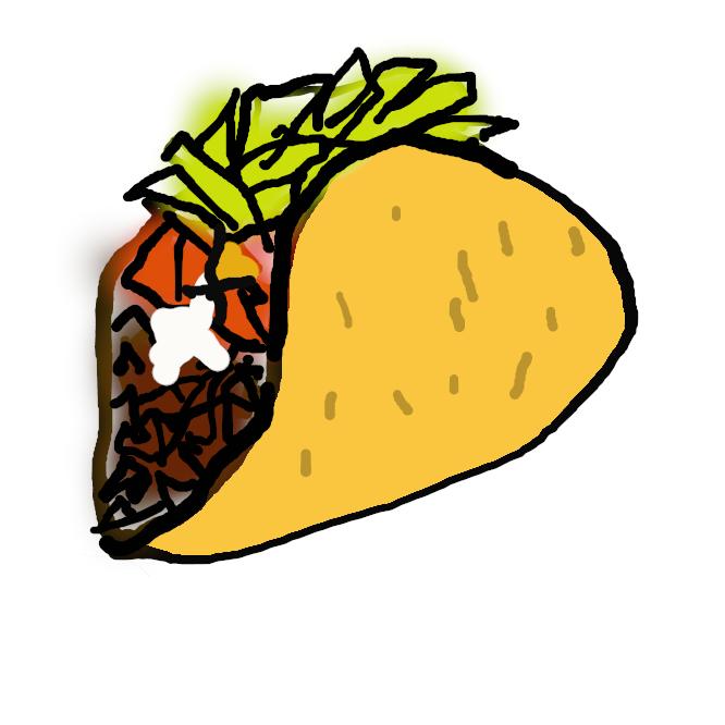 メキシコ料理の一。炒(いた)めたひき肉、チーズ・レタスなどを、トウモロコシ粉を薄焼きにしたトルティーヤに挟み、サルサソース(香辛料をきかせたトマトソース)などをつけて食べるもの。