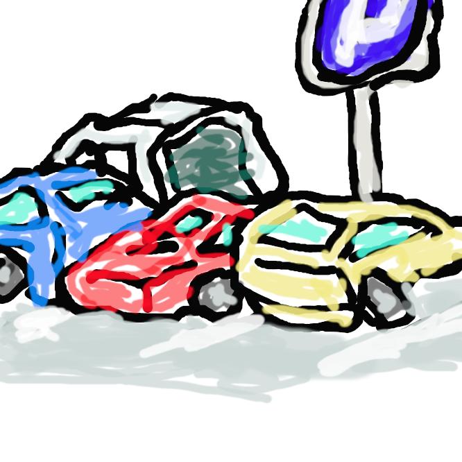 自動車をとめておくための特定の場所。