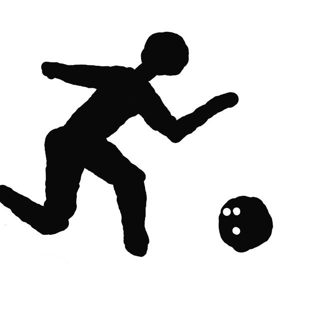 スポーツ競技の一。レーンとよばれる木製の床の端に立てた10本のピンを目がけてボールを転がし、倒したピンの数で得点を競い合う。