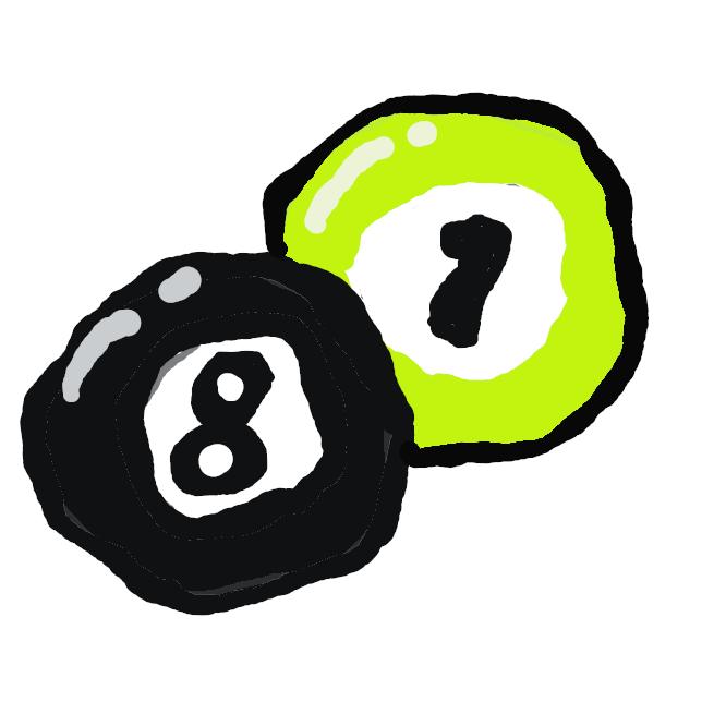 室内ゲームの一。ラシャ張りの長方形の台の上にいくつかの球を置き、白球の一つを棒(キュー)で突いて他の球に当てるなどして得点を競う。玉突き。撞球(どうきゅう)。