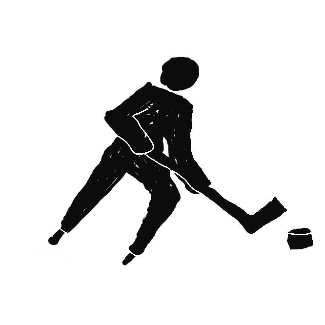 【アイスホッケー:ice hockey】氷上競技の一。全身を防具で固めスケート靴を履いた1チーム6人ずつの競技者が、木製のスティックでパック(たま)を相手側ゴールに入れて得点を争う競技。