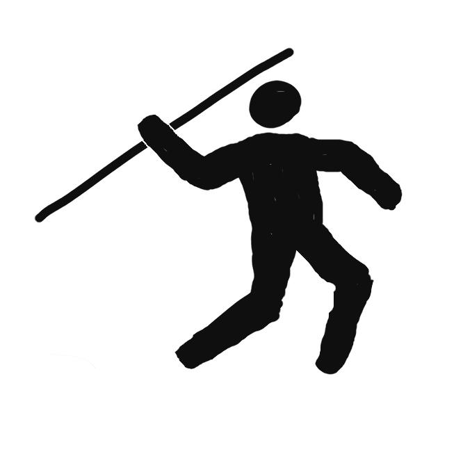 【やり投げ:javelin throw】陸上競技の投てき種目の一つ。男子は長さ 260~270cm、重さ 800g以上、女子は長さ 220~230cm、重さ 600g以上のやりを、助走をつけて投げ、飛距離を競う。古代オリンピック競技大会からある種目で、近代になってフィンランド、スウェーデンを中心に発達。やりは尖端、柄、グリップの3部分からなる。