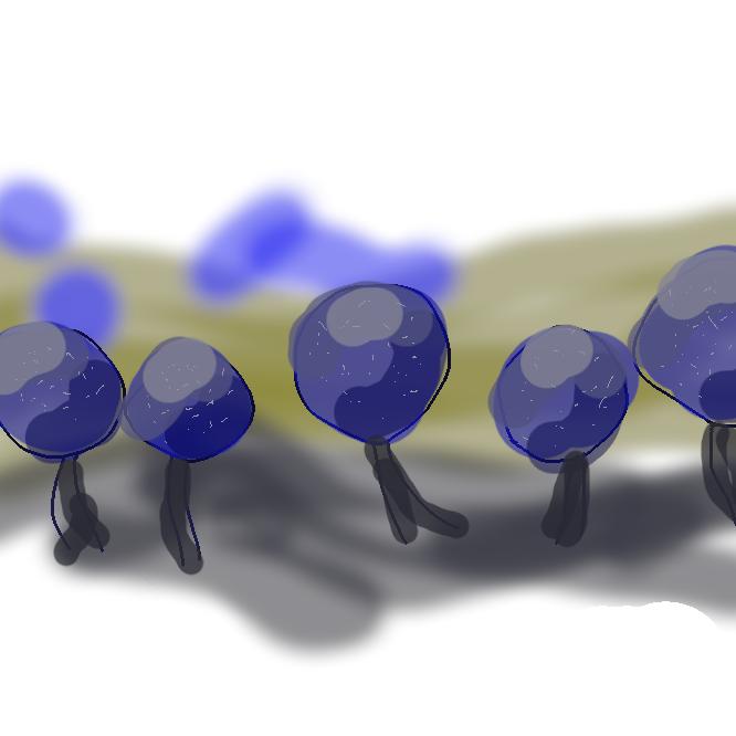 【変形菌】枯れ木・枯れ葉などの表面にアメーバ状の栄養体(変形体)を広げ、アメーバ運動をして栄養分をとり、これから球形・円柱形などの胞子嚢(ほうしのう)を出す生物の一群。ムラサキホコリカビ・ツノホコリカビなど。分類学上、20世紀半ば頃まで変形菌門とされていたが、現在は植物・動物・菌類のいずれでもないアメーバ動物の一門と考えられている。変形菌類。粘菌類。真正粘菌。