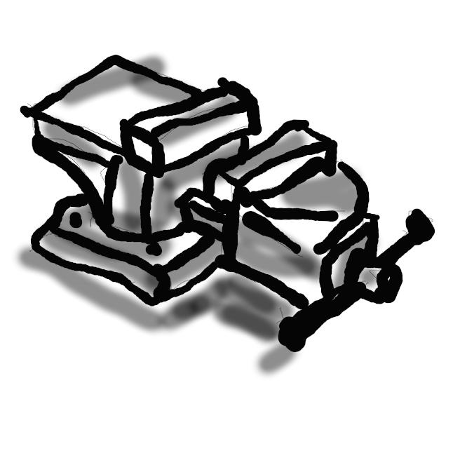 【万力】工作物を挟んで締めつけ、固定させる工具。バイス。