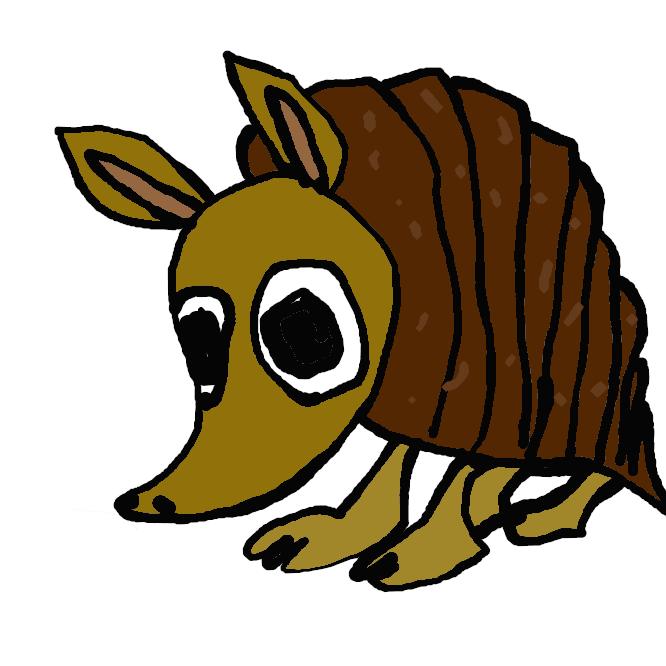 貧歯目アルマジロ科の哺乳類の総称。背面は骨質の甲羅で覆われ、前肢に丈夫な爪をもつ。歯はあるが不完全で、主に昆虫を食べる。ミツオビアルマジロなど20種以上が中南米に分布。よろいねずみ。