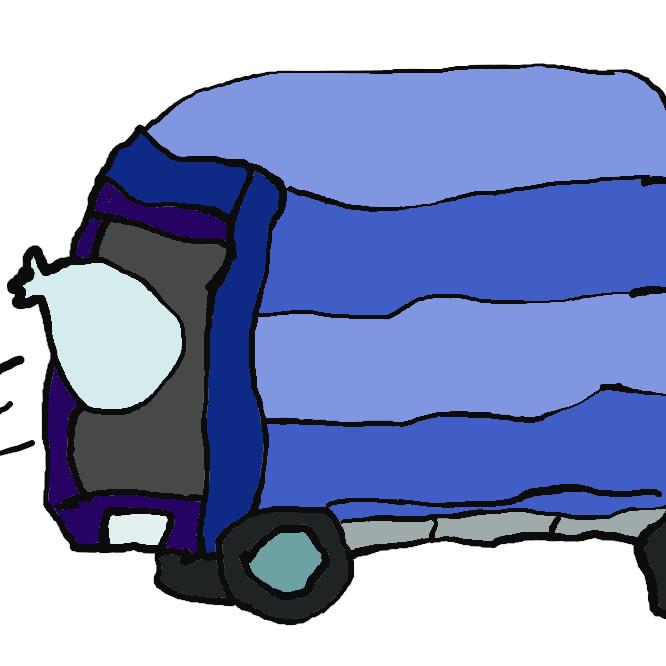 ごみを収集して処分施設まで運搬する目的に特化した業務用車両である。