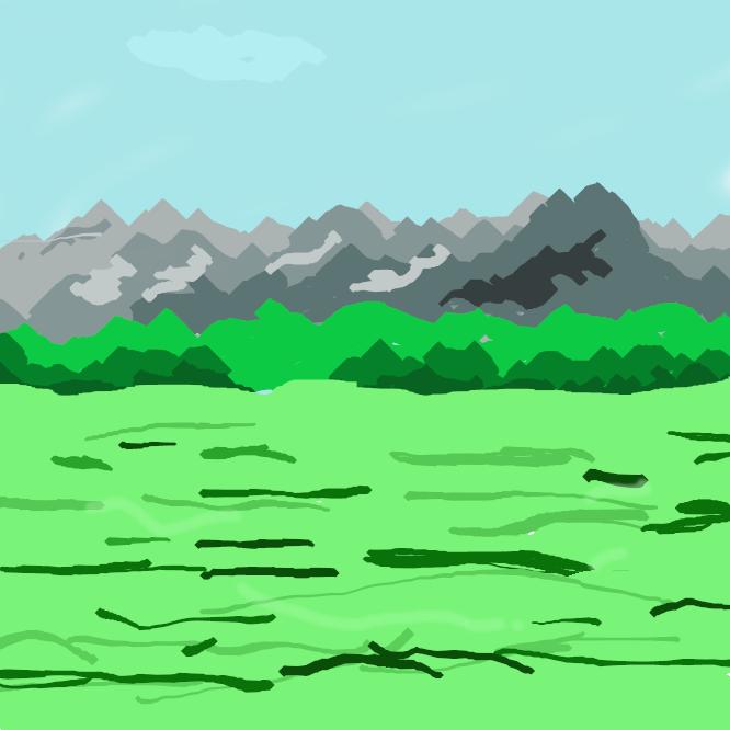 【平原】広々とした平らな土地。平坦な野原。