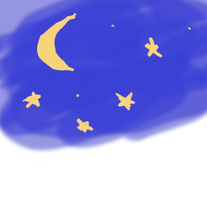 【夜空】夜の空。