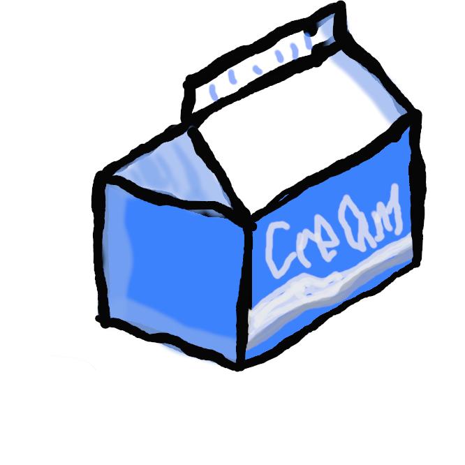 【生クリーム】牛乳から分離・抽出した脂肪分。洋菓子の材料やコーヒー添加用などにする。