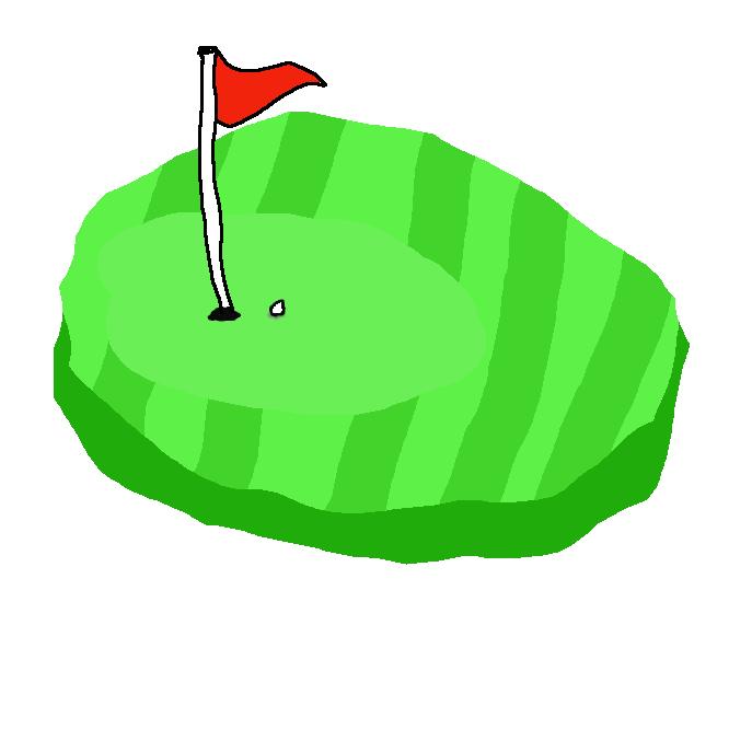ゴルフ場で、ホール(穴)の周囲の、芝を短く刈って整備した区域。