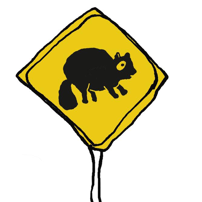 【動物注意】標識に描かれている動物が近くに生息しており、道路上に飛び出してくる可能性があることを示しています。また、標識が設置されているところには、すでにその動物が出没した実績があるそうです。