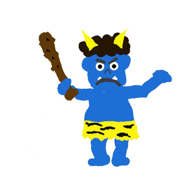 【青鬼】青色をした鬼のこと。
