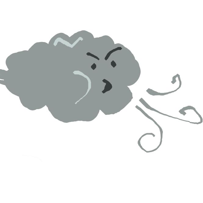 空気のほぼ水平方向の運動。風向と風速で動きを表す。山谷風・海陸風のような小規模のものから、中規模の季節風、大規模な偏西風・貿易風などがある。