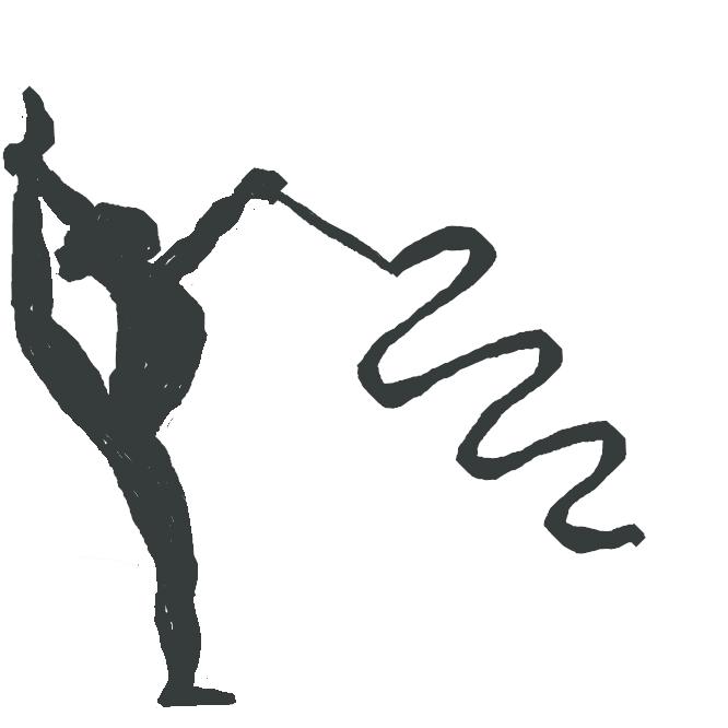 新体操で用いる手具の一。帯状布。